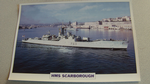 1955 HMS Scarborough frigate warship framed picture
